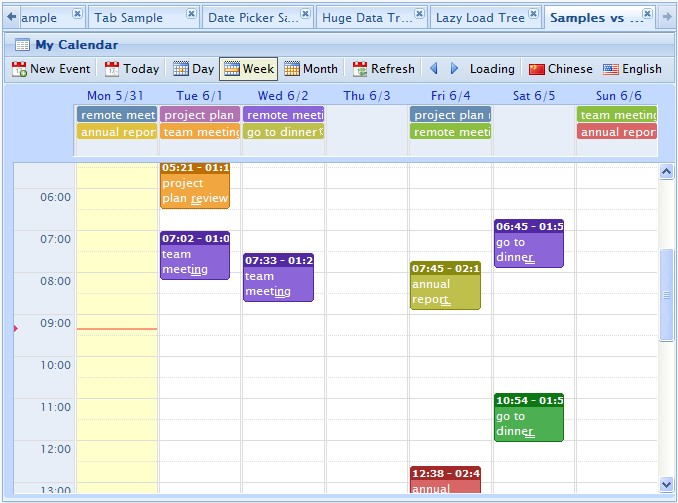 web delicious jquery event calendar